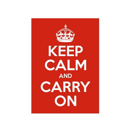 Keep Calm And Carry On 2 x A5 Prints